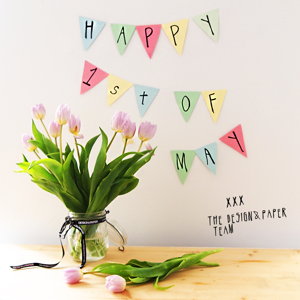 happy day of may everyone design and paper