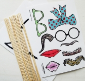 Design & Paper Photo Booth Props (free download)