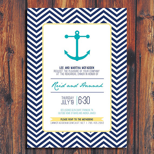Ahoy The Marine Trend Is Setting Sail Design And Paper Wedding Invitations Unique Criolla Brithday