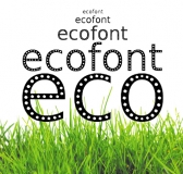 Ecofont – Ecologically Conscious Typeface