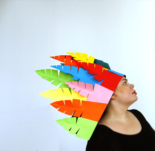 DIY Paper Feather Headdress | Design and Paper