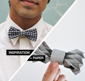 Inspiration + Paper = Origami Paper Bowtie
