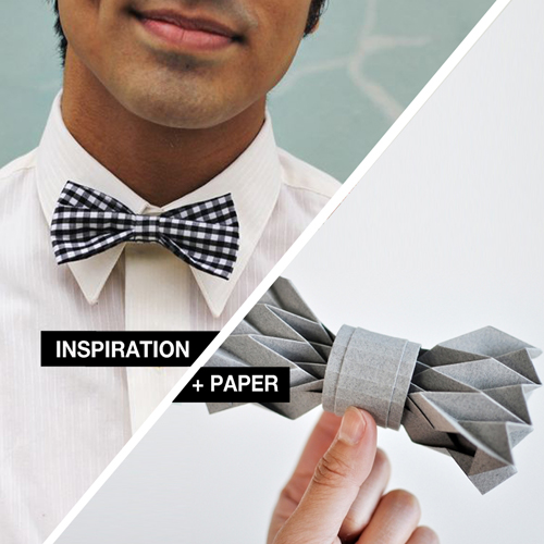 Inspiration Paper Origami Bowtie Design And