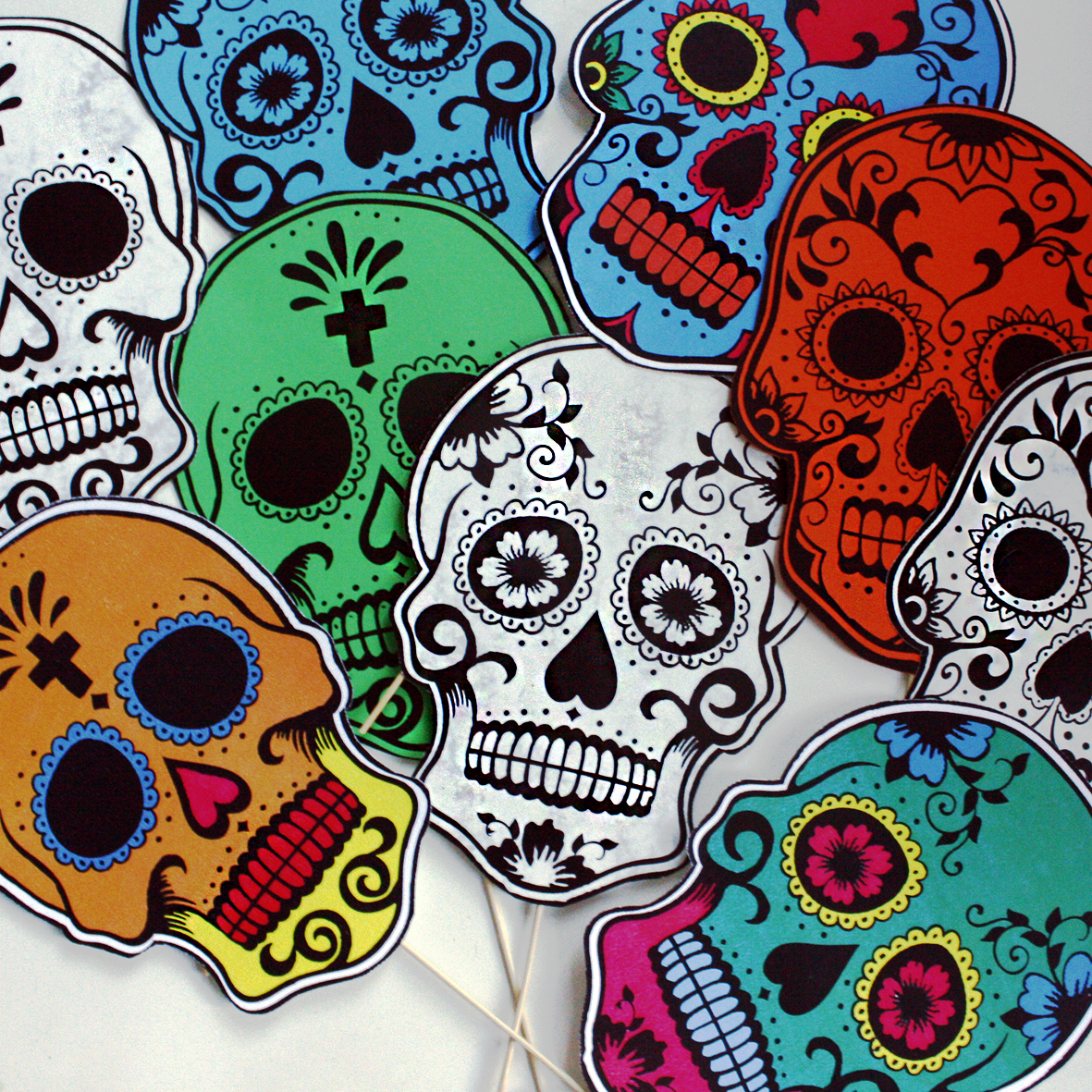 we made our own halloween masks inspired by the equivalent mexican festival da de los muertos day of the dead