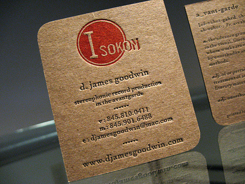 kraft paper business card 04 - Kraft Paper Business Cards