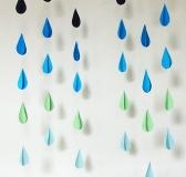DIY Raindrop Garland