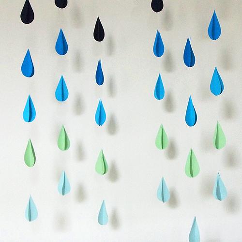 Diy Raindrop Garland Design And Paper