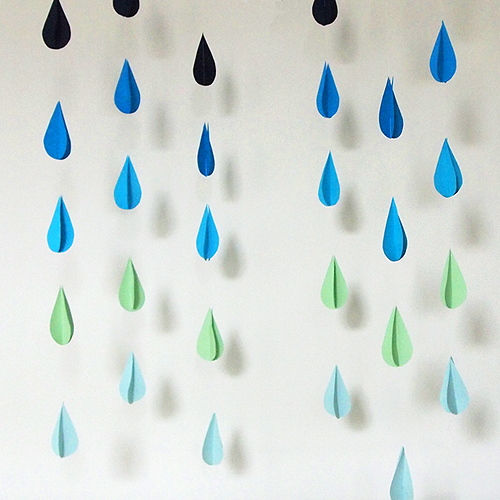 Diy Raindrop Garland | Design And Paper