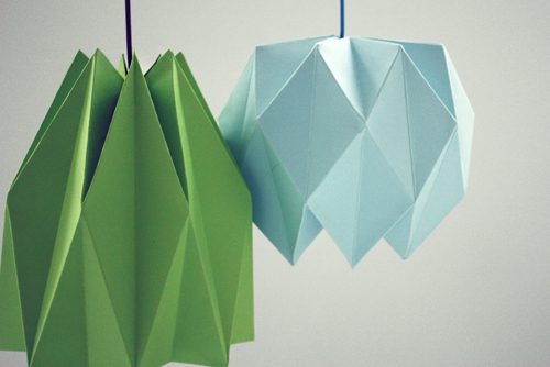 origami lamp diy