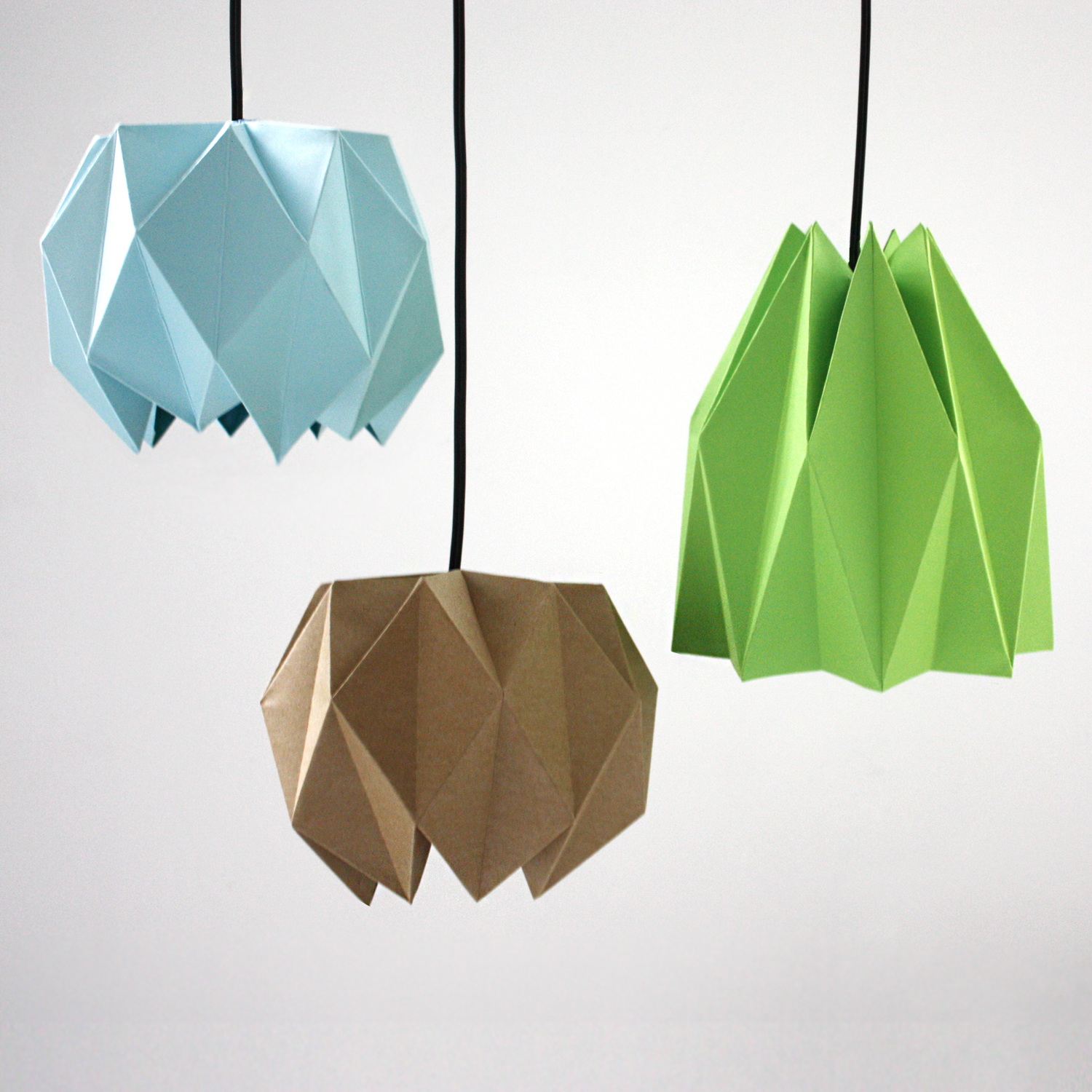 diy origami lampshade design and paper. Black Bedroom Furniture Sets. Home Design Ideas