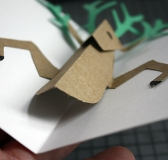 DIY Pop-up Reindeer Holiday Card