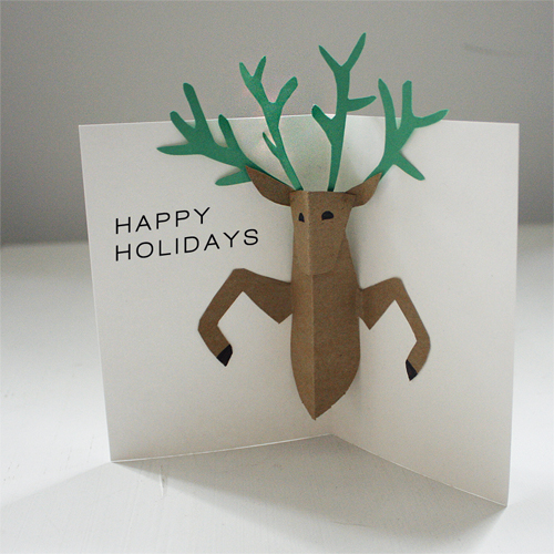 DIY Pop Up Reindeer Holiday Card