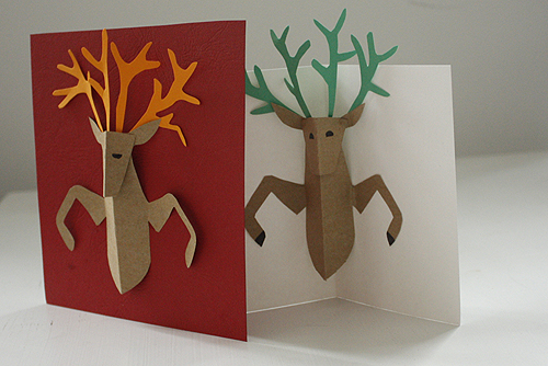 Diy pop up reindeer holiday card design and paper happy holidays card making everyone reindeer9 solutioingenieria Gallery