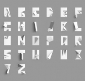 TypoThursday × Folded Paper Alphabet