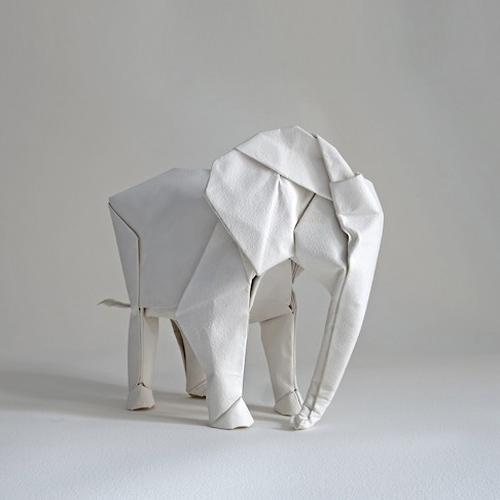 Sipho Mabonas Life Sized Elephant Origami