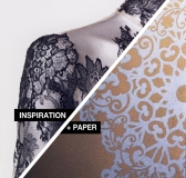 Inspiration + Paper = Lace Trend