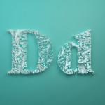 TypoThursday ● Dan Hooperts Paper Typography