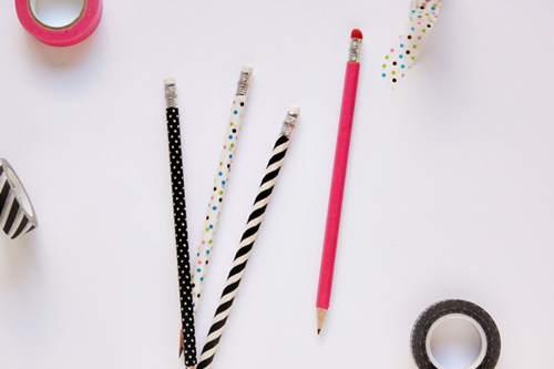 Your pencils need a little something extra..how about some washi tape?