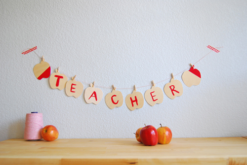 """Make the first day of school special with a banner! Yours can say something like """"hooray!"""" or something else equally manipulative."""