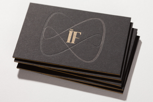 The if in business cards design and paper the core or go for a classic black and white combination the if masters this trend with ease and even used it for their own studios business cards reheart Choice Image