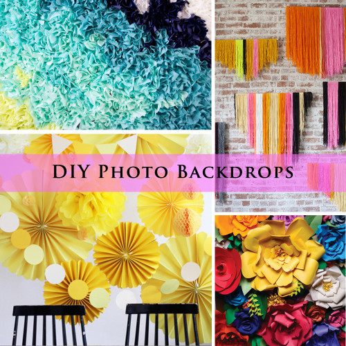 20+ DIY Photo Backdrop Ideas