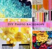 20+ DIY Photo Backdrop Ideas