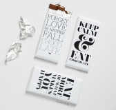 DIY Typography Chocolate Bar Wrappers