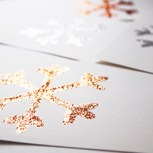 DIY Glitter Christmas Cards | Design and Paper