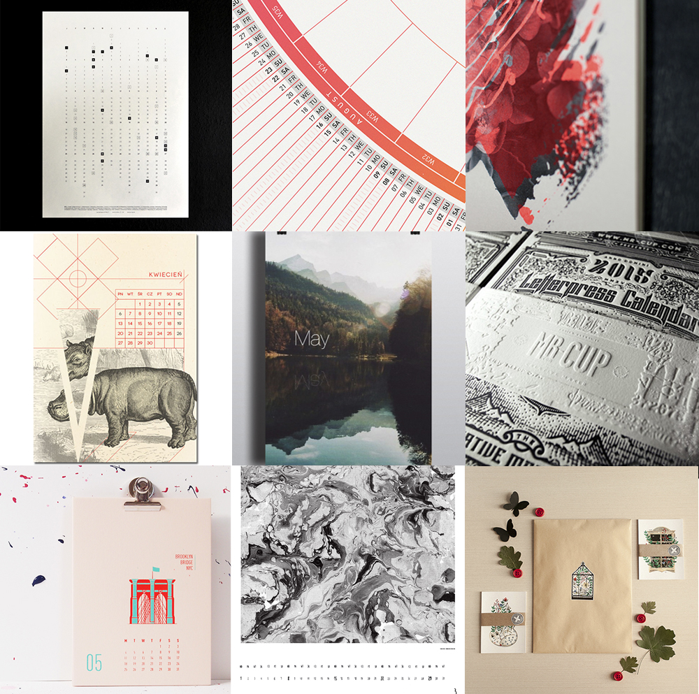 Calendar Inspiration 2015 : Wall calendar inspiration design and paper