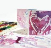 DIY Wax Resistant Valentine's Cards