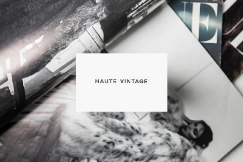 Haute Vintage Branding | Design & Paper