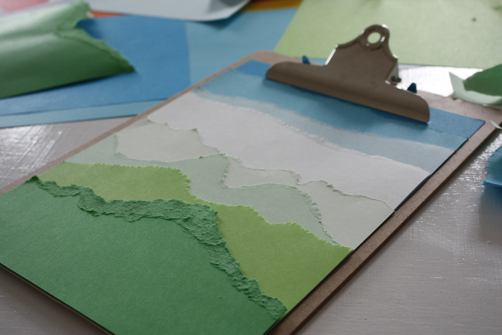 Torn paper landscape design and paper for Landscape design paper