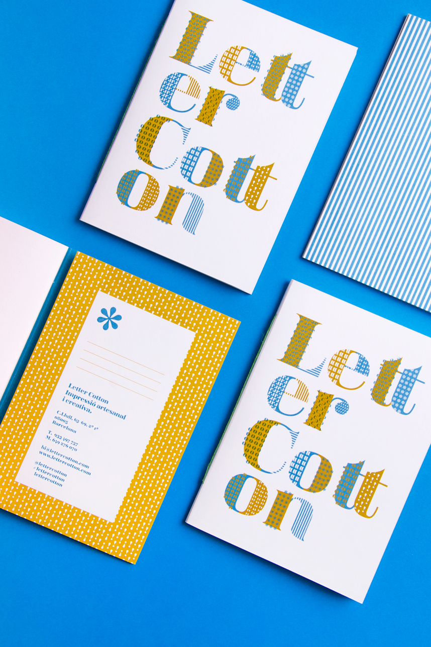 Letter Cotton Identity by Studio Cocolia