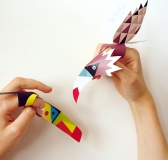 DIY Paper Bird Finger Puppets by Mr. Printable