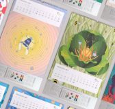 Robots Wall Calendar by Tofu Studio