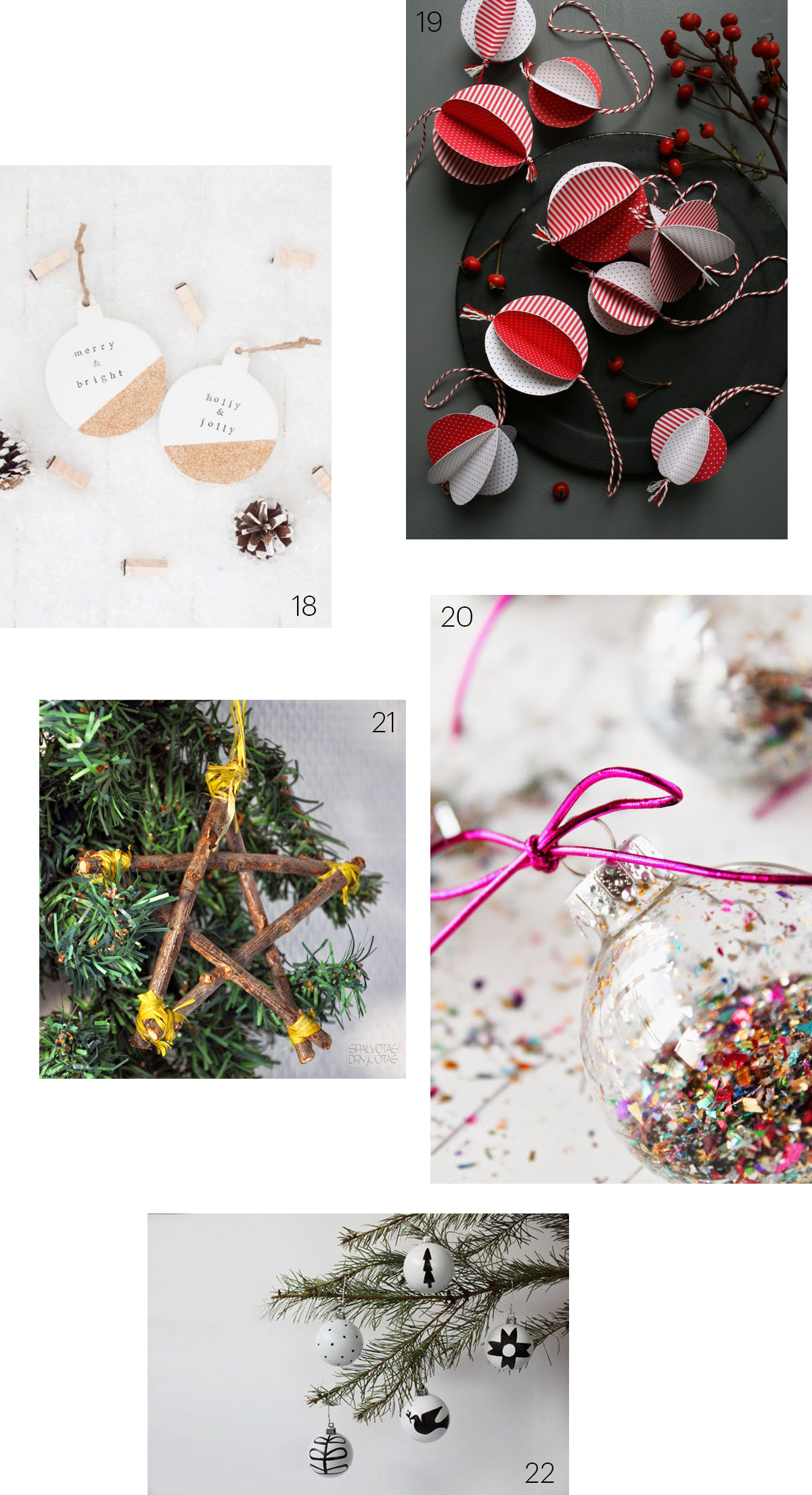 34 Charming DIY Christmas Tree Ornaments
