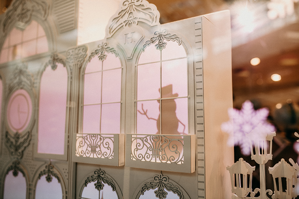 Hans Christian Andersen Inspired Bookstore Window Display Fully Made of Paper by Edina's Paper