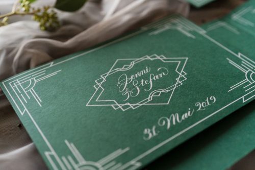 Art Deco Inspired Wedding Invitations By Tintenfuchs On Color