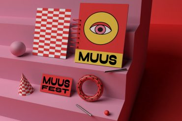 Playful Muus festival visual identity by Fanny Papay