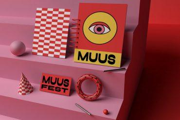 Playful Muus festival visual identity by Fanny Papay