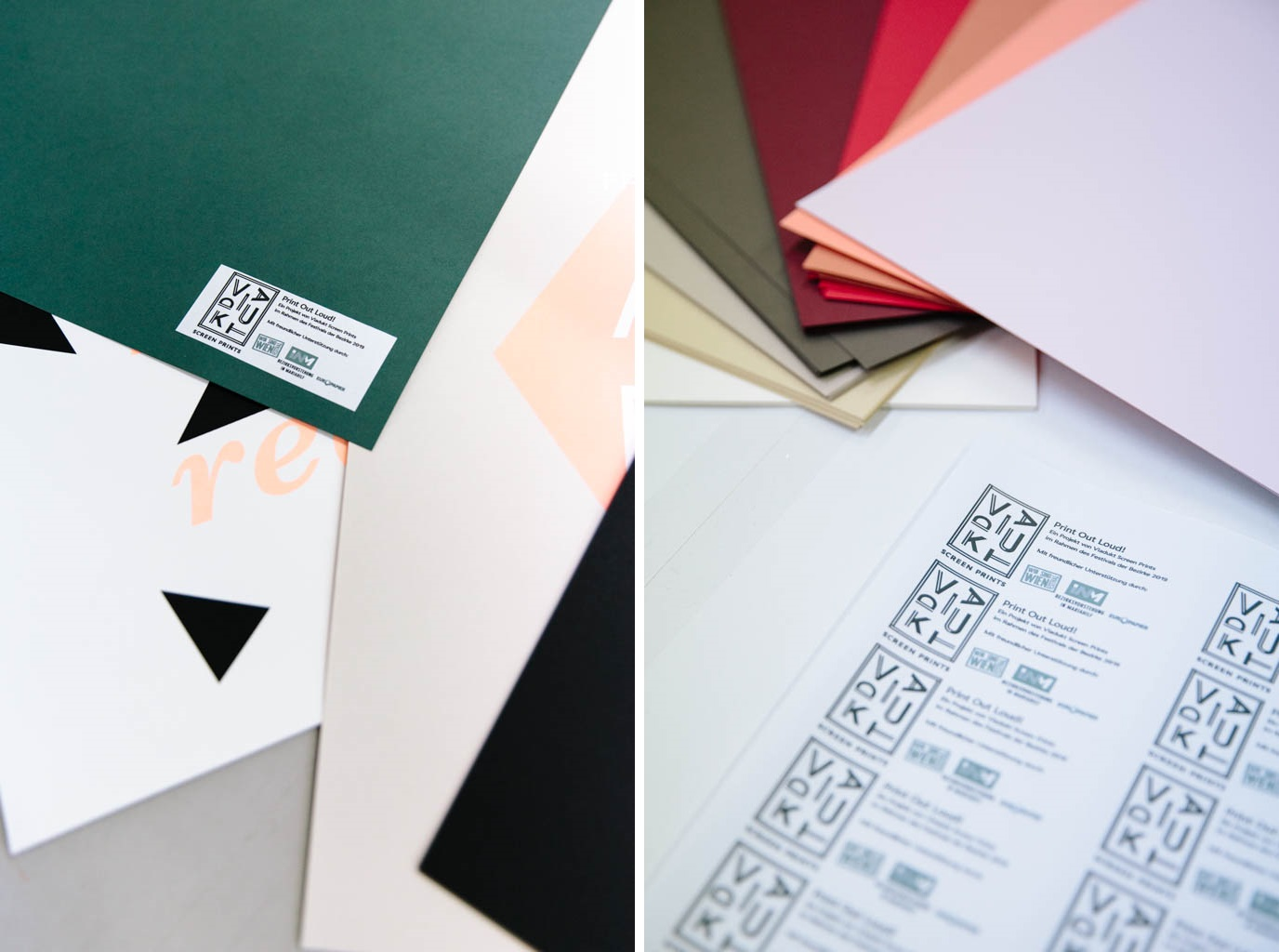 Color Style papers and labels for posters at Viadukt