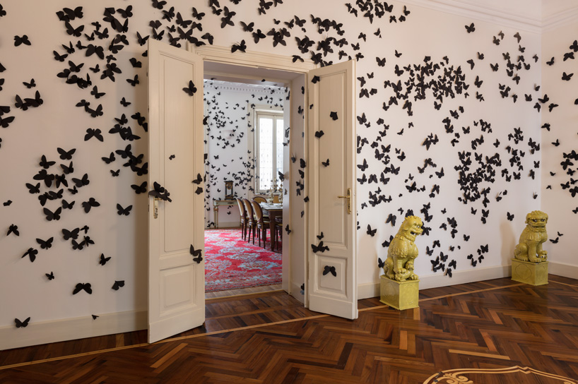 Thousands of Paper Butterflies Take Over the Fondazione Adolfo Pini in Milan