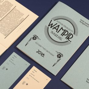 The Vampire theatre play program in art deco style printed on remake paper