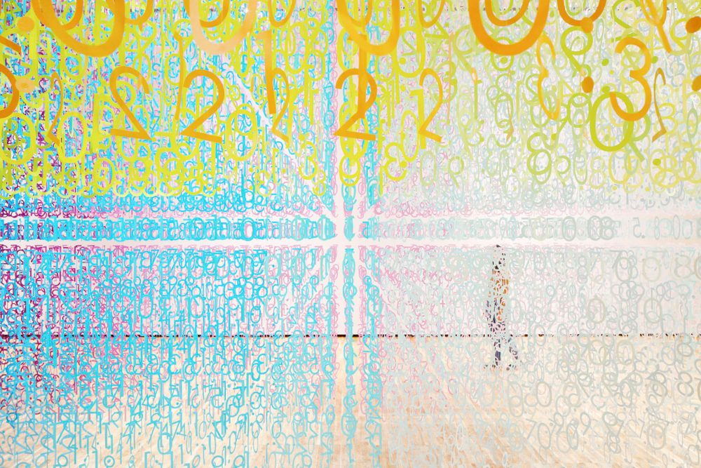 The Color of Time installation by Emmanuelle Moureaux, world-renown artist known for her brightly colored three-dimensional elements.
