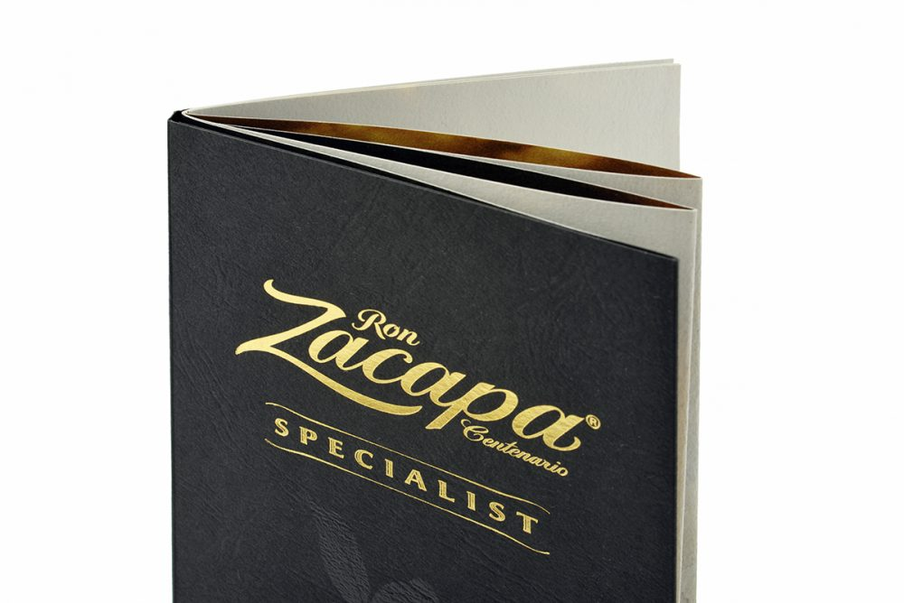 Brochure cover of Color Style Leather with gold foil print