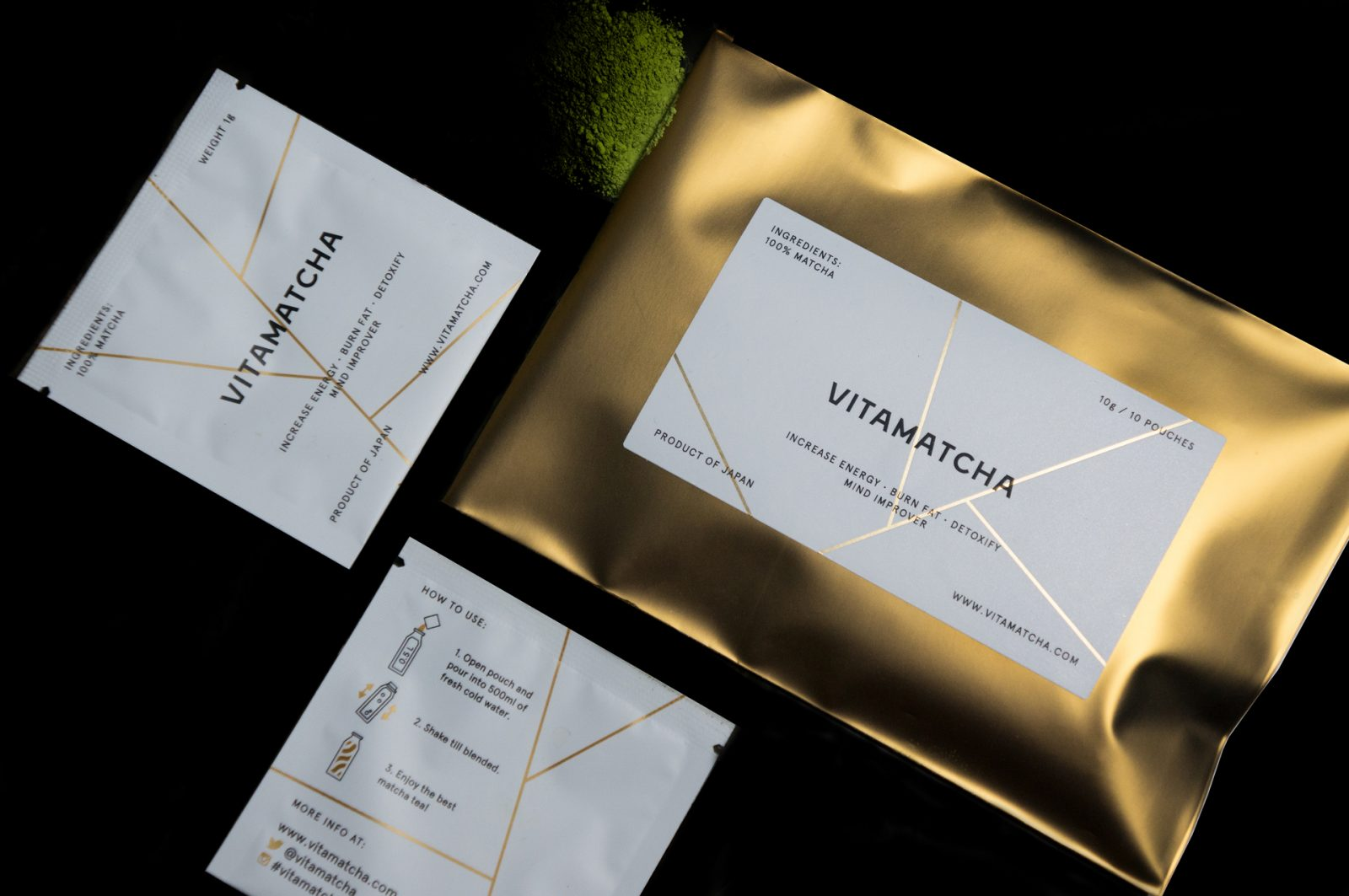 Fashionable Health Drink Vitamatcha Identity by Commercial Magic