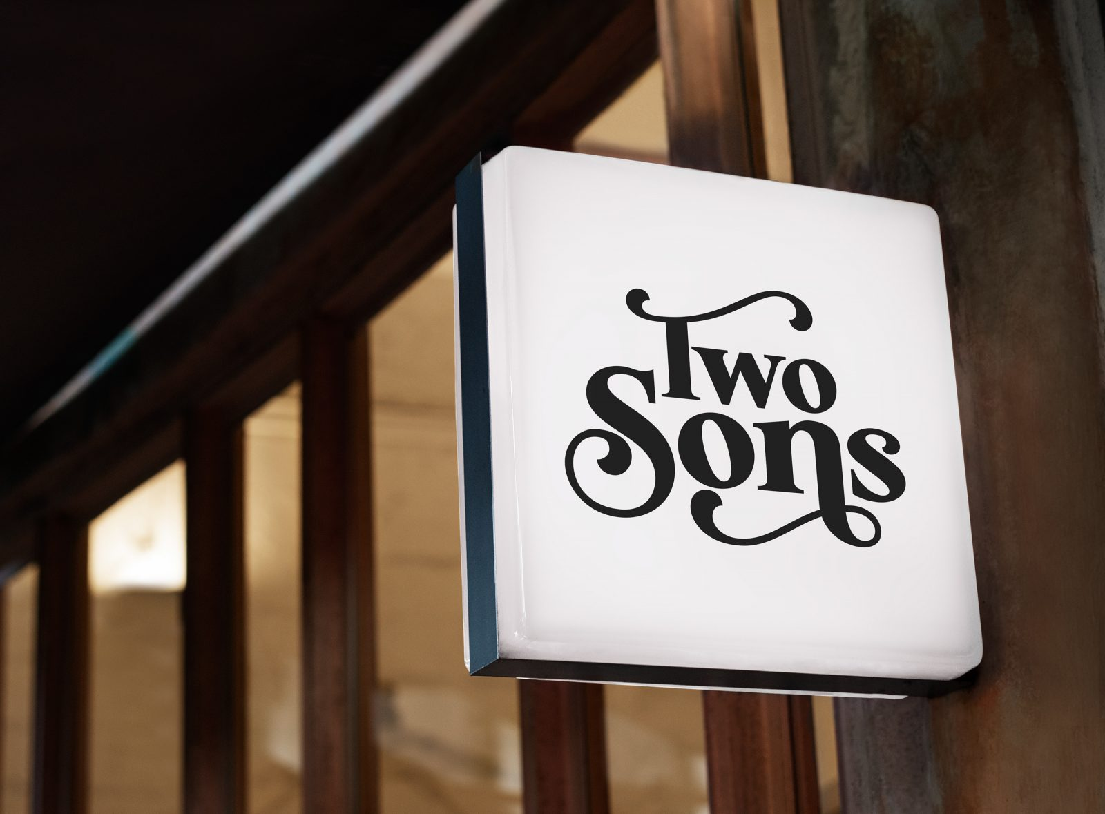 Two Sons Donut Emporium branding by lazaris