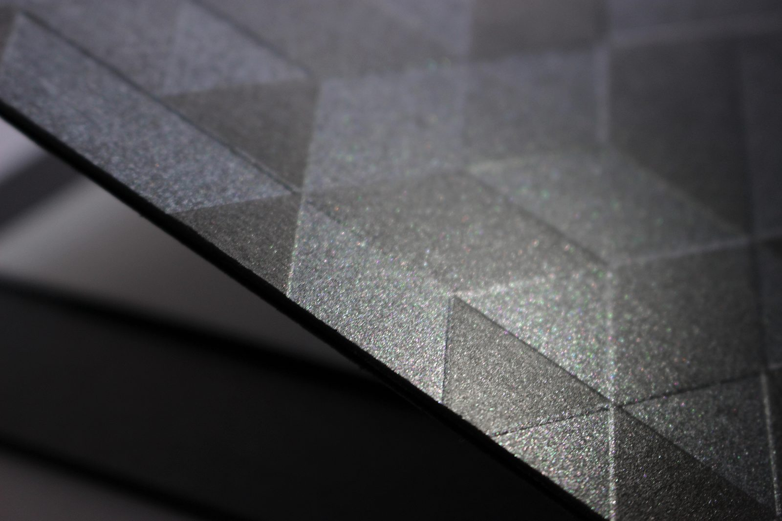Galaxy Metallic Space Black by Europapier glimmers delicately like a starry sky in J&T Banks card, designed and printed by i+i print.