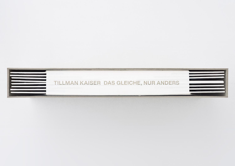 Tillman Kaiser's Sculptural THE SAME. ONLY OTHER Artist Book