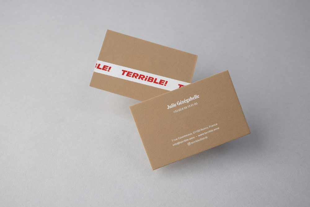 Terrible Businesscards Brazenly Demands Attention in a Contemporary Fashion
